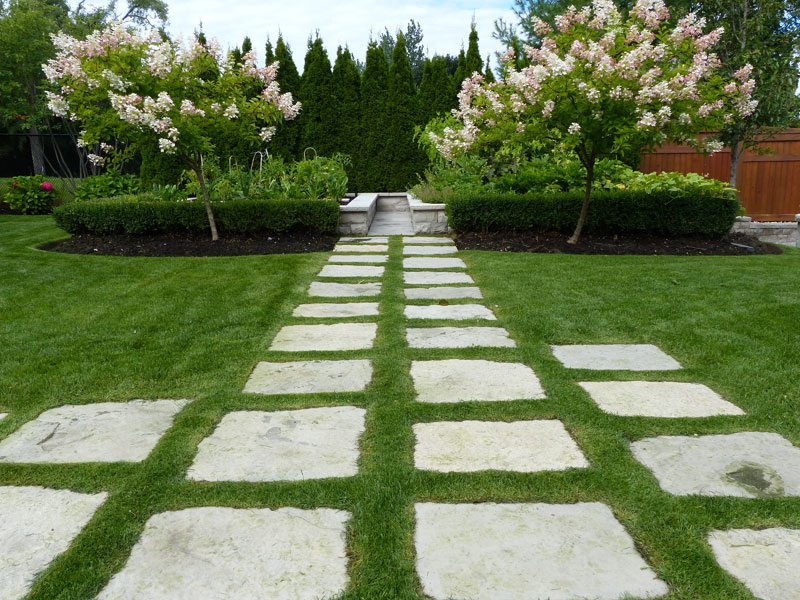 Lawn care service and tree care, patio stones