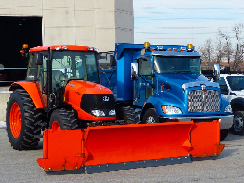 snow plowing trucks, snow removal services